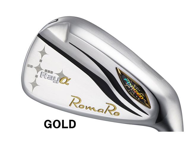 RomaRo (ロマロ) Ray α(アルファ) GOLD (高反発モデル) アイアン COLOR TUNE 6本セット RJ-Ti5 Plemium Lightシャフト