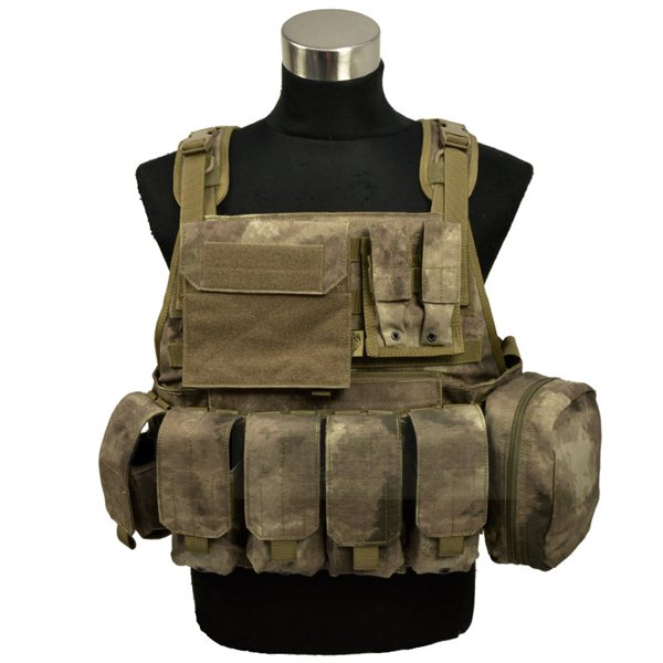 FLYYE MOLLE Style PC Plate Carrier with Pouch set A-TACS サバゲー,サバイバルゲーム,ミリタリー
