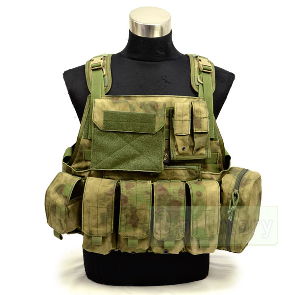FLYYE MOLLE Style PC Plate Carrier with Pouch set A-TACS FG 【A-TACS森林ver】 サバゲー,サバイバルゲーム,ミリタリー