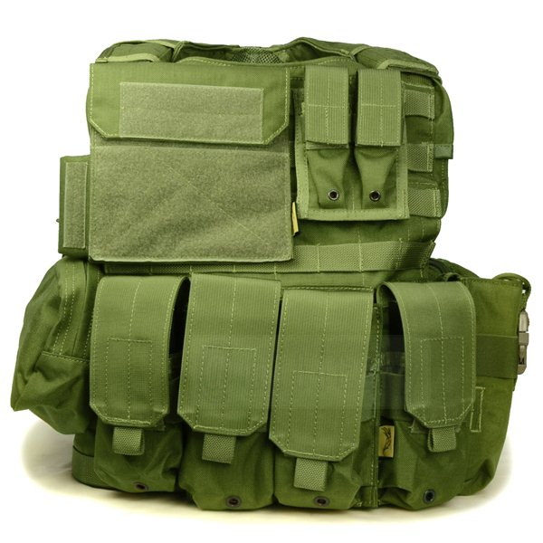 FLYYE Force Recon Vest with Pouch Set Ver.Land OD