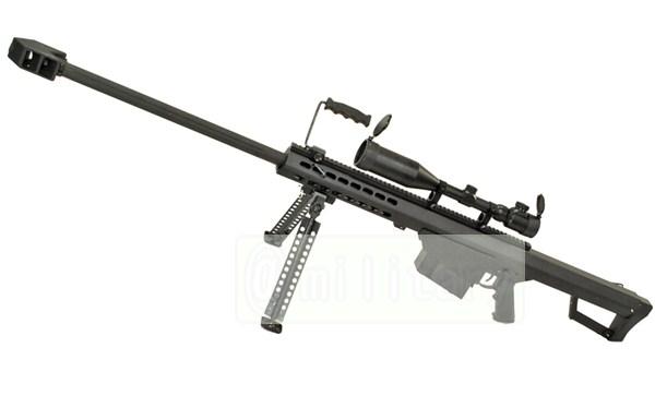 SNOW WOLF バレットM82A1 対物ライフル 電動フルメタル スコープ&バイポット付属 サバゲー,サバイバルゲーム,ミリタリー