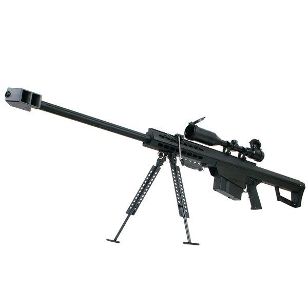 SNOW WOLF バレットM82A1 (対物ライフル) エアコッキング エアガン スコープ&バイポットセット