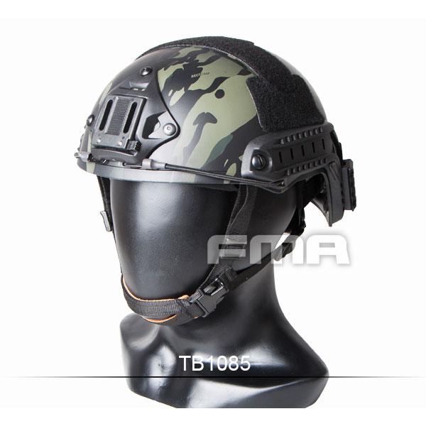 FMA製 Ops-Core Fast Ballistic ヘルメット レプリカ マルチカムブラック [ピカティニーレール&ウイングロックレール付属] サバゲー,サバイバルゲーム,ミリタリー