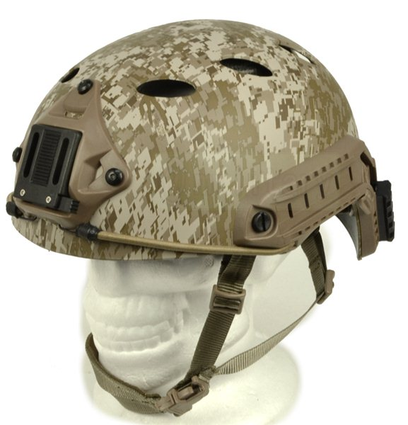 FMA製 FASTヘルメット [Pararescue Jumpers]PJタイプ デジタルデザート サバゲー,サバイバルゲーム,ミリタリー