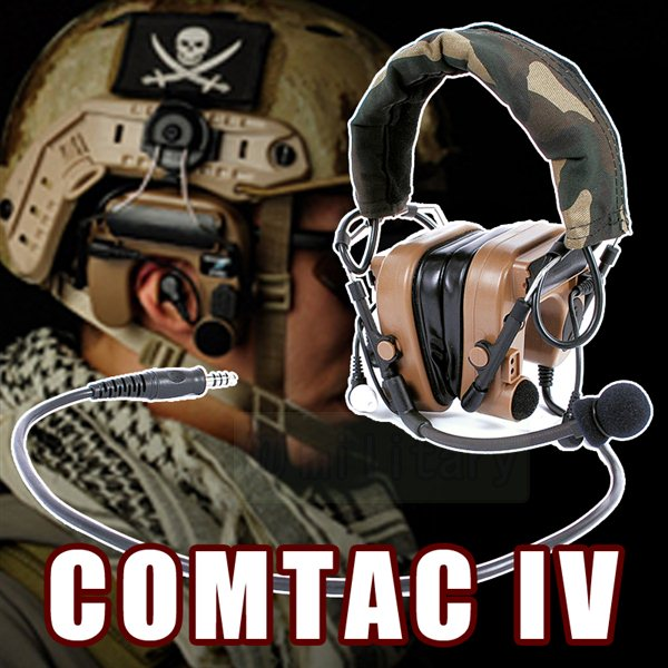 COMTAC IV ハイブリット タイプ ヘッドセット サバゲー,サバイバルゲーム,ミリタリー