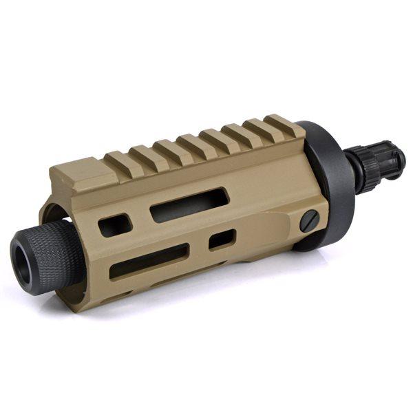 ARES M45 電動サブマシンガン用 M-LOK CNC ハンドガード ショート デザートカラー サバゲー,サバイバルゲーム,ミリタリー
