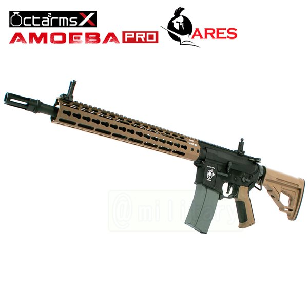 ARES 【AMOEBA PRO】[13インチ ハンドガード][KeyModシステム] M4-KM13 アサルトライフル 電動ガン DE サバゲー,サバイバルゲーム,ミリタリー