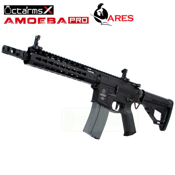 ARES 【AMOEBA PRO】[9インチ ハンドガード][KeyModシステム] M4-KM9 アサルトライフル 電動ガン BK サバゲー,サバイバルゲーム,ミリタリー