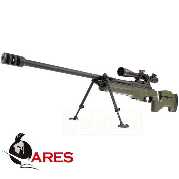 ARES SAKO TRG-42 ガス式 ボルトアクションスナイパーライフル OD スコープセット サバゲー,サバイバルゲーム,ミリタリー