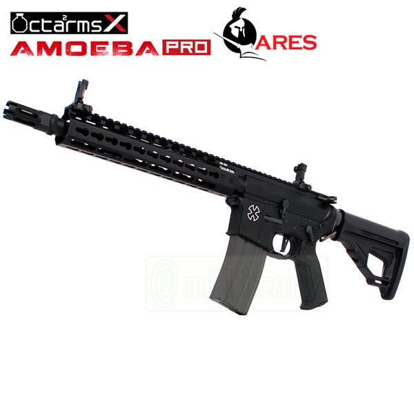 ARES 【AMOEBA PRO】[10インチ ハンドガード][KeyModシステム] M4-KM10 アサルトライフル 電動ガン BK サバゲー,サバイバルゲーム,ミリタリー