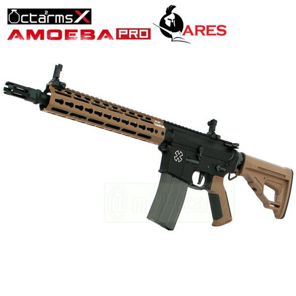 ARES 【AMOEBA PRO】[10インチ ハンドガード][KeyModシステム] M4-KM10 アサルトライフル 電動ガン DE サバゲー,サバイバルゲーム,ミリタリー