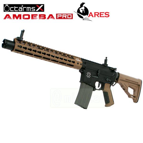 ARES 【AMOEBA PRO】[12インチ ハンドガード][KeyModシステム] M4-KM12 アサルトライフル 電動ガン DE サバゲー,サバイバルゲーム,ミリタリー