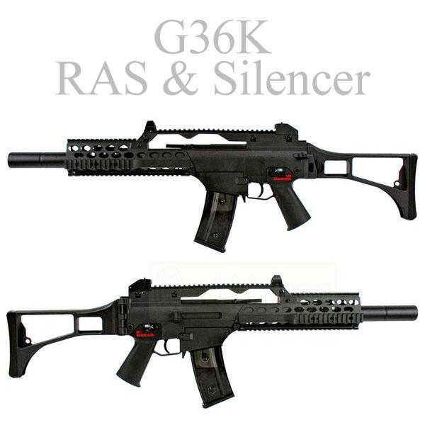 Jing Gong G36K RAS & Silencer AEG サバゲー,サバイバルゲーム,ミリタリー