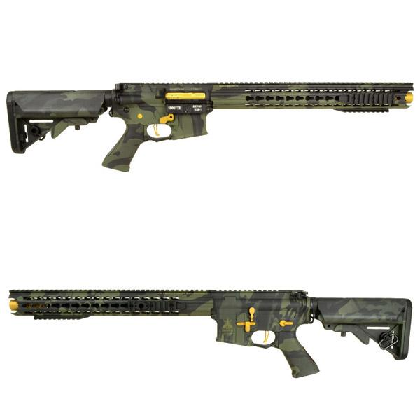 APS BOAR Defense Ambi ライフル 3Gunカスタム 電動ガン マルチカムブラック迷彩バージョン サバゲー,サバイバルゲーム,ミリタリー