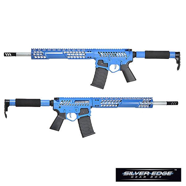 APS/EMG F1 FIREARMS BDR-15 3G Skeletonized 電動ガン ブルー/TRONストックver サバゲー,サバイバルゲーム,ミリタリー