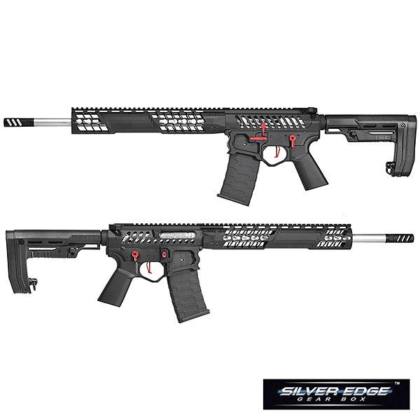APS/EMG F1 FIREARMS BDR-15 3G Skeletonized 電動ガン ブラック/レッド/RS-2ストックver