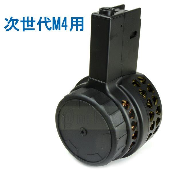 IRON AIRSOFT X15タイプ 1000連 電動ドラムマガジン 次世代M4電動ガン用 サバゲー,サバイバルゲーム,ミリタリー