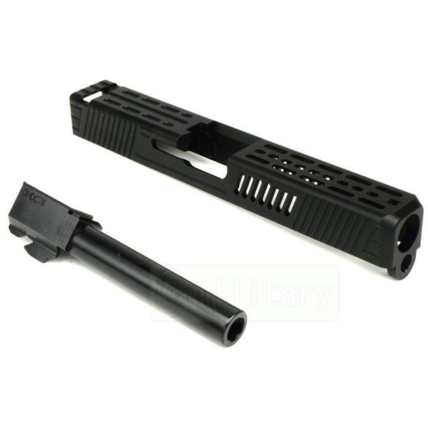 CNC スライド&バレルキット Type4 [グロック17用] ブラック