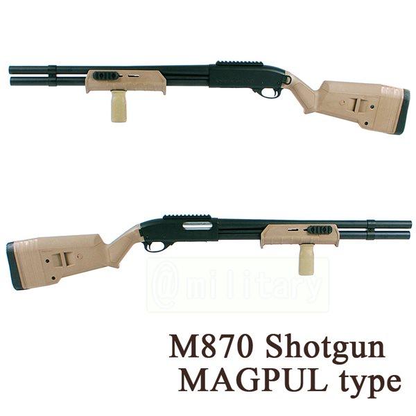 M870 エアコッキング ショットガン MAGPUL タイプ DE サバゲー,サバイバルゲーム,ミリタリー