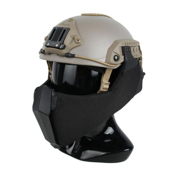 サバゲー★大感謝フェア★ TMC アンダー ハーフ フェイスマスク for OC Highcut ヘルメット ブラック サバゲー,サバイバルゲーム,ミリタリー