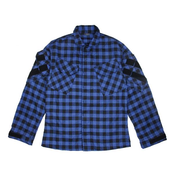 TMC プログラマー フィールド シャツ バッファローチェック柄 ブルー サバゲー,サバイバルゲーム,ミリタリー