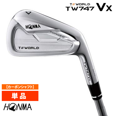 本間ゴルフ HONMA ホンマ TOURWORLD ツアーワールド TW747-Vx アイアン単品(#3/#4/#11) VIZARD IB-WFカーボンシャフト(硬さ:S)