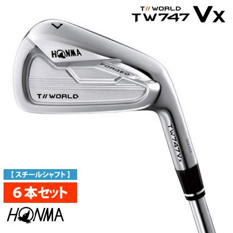 本間ゴルフ HONMA ホンマ TOURWORLD ツアーワールド TW747-Vx アイアン6本セット(#5~#10) MODUS3 For T-WORLDスチールシャフト