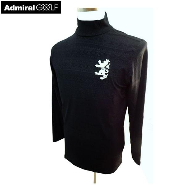 男性用ゴルフウエア ADMIRAL アドミラル ゴルフウェア 秋冬 長袖 メンズウエア ADMA9A6 BLK(10) M:AWM632 L:AWM631 LL:AWM633