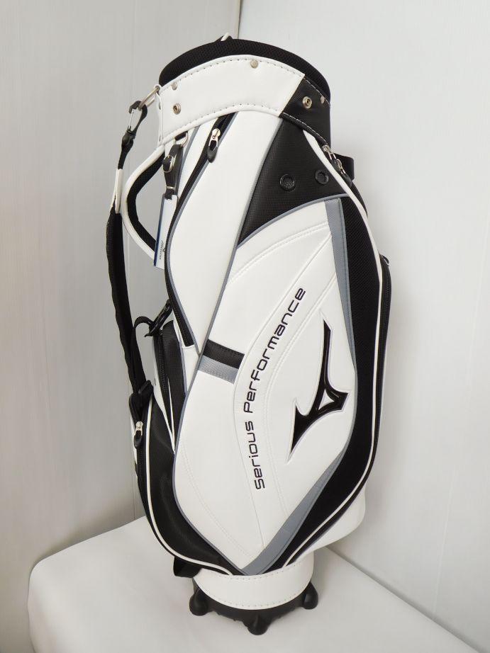 ゴルフ ミズノ MIZUNO キャディバッグ 5LJC170600 0103 ホワイト/シルバー 9型/2.3kg/47インチ対応 CB206