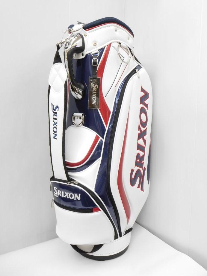 DUNLOP ダンロップ SRIXON スリクソン ゴルフ 9.0型軽量キャディバッグ GGC-S132 ホワイト CB216