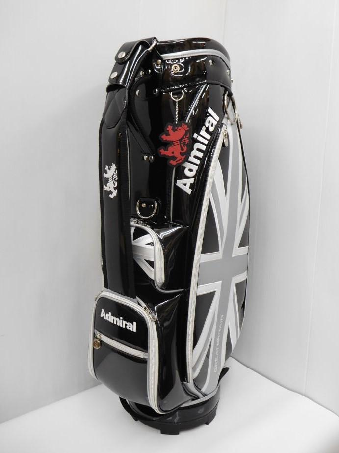 ADMIRAL アドミラル ゴルフ 8.5型キャディバッグ46インチ対応 ADMG8SC3 ブラック(10) CB221
