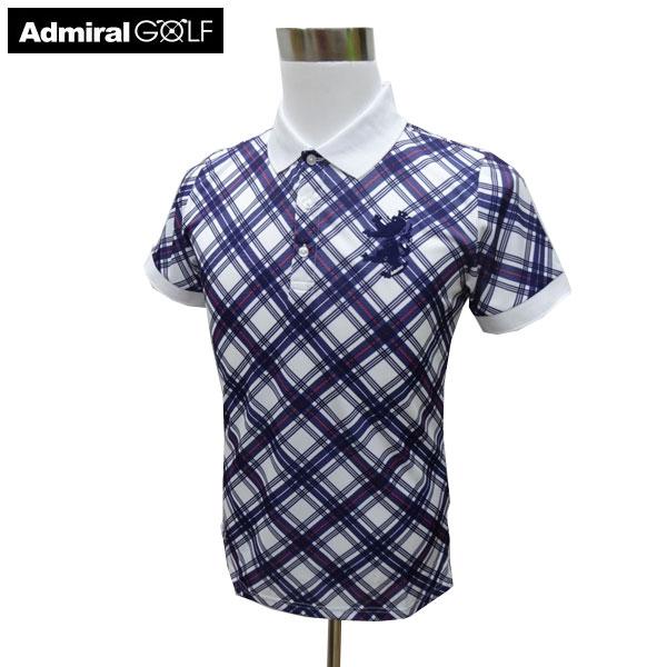 ADMIRAL アドミラル ゴルフウェア 春夏 メンズウエア ポロシャツ ADMA922WHT(00) M:SSM485 L:SSM486