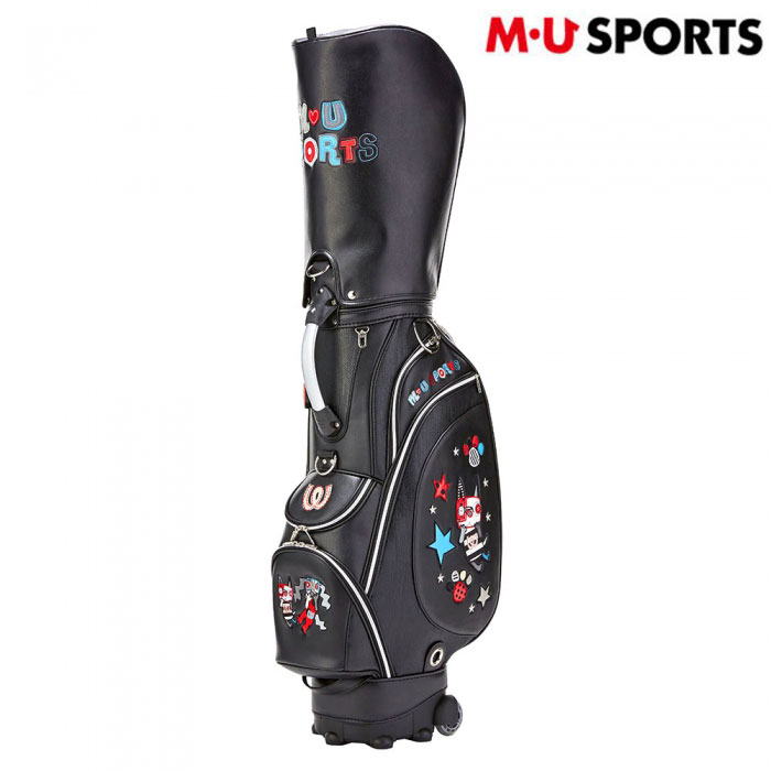 M・U SPORTS ミエコ・ウエサコ ゴルフ 女性用 レディース スペインアート風キャディバッグ(703P1102)ブラック/8.5型/5.6kg/送料無料