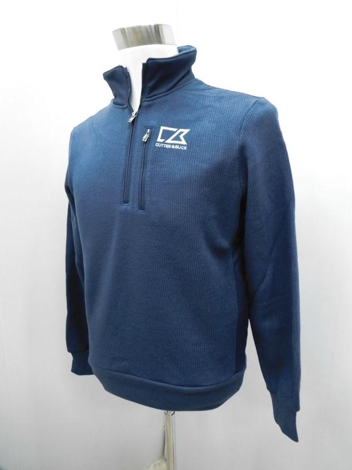 CUTTER&BUCK カッター&バック ゴルフ メンズウェア 男性用 長袖ウエア ソリストヒート 防寒 ハーフジップシャツ CGMMJL52 NV00 M:AWM504