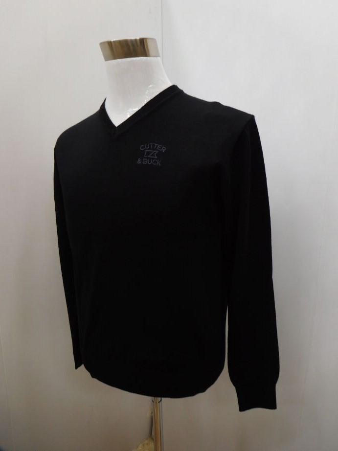 CUTTER&BUCK カッター&バック ゴルフ メンズウェア 男性用 長袖ウエア Vネックセーター CGMMJL09 BK00 M:AWM512 L:AWM513