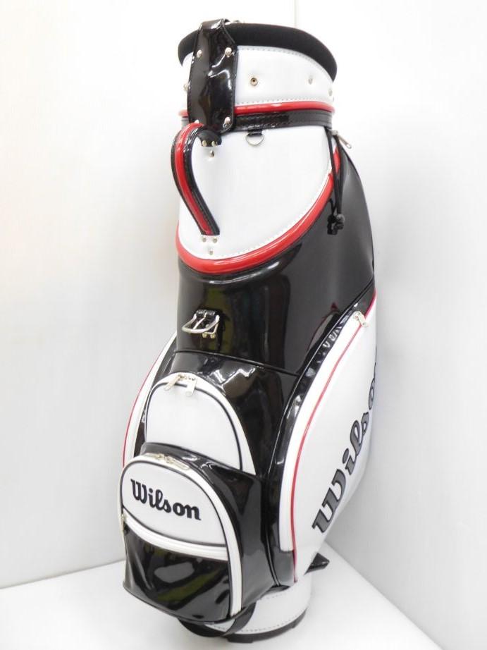 人気が高い wilson ウィルソン ゴルフ エナメルキャディバッグ WSM-009 ホワイト(001)8.5型/3.5kg ウィルソン ゴルフ wilson/47インチ対応 CB250, 栗沢町:fbb85c9b --- totem-info.com