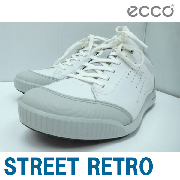 ecco エコー 男性用 メンズ ゴルフ シューズ STREET RETRO Mens Golf HM 150604 WHITE/CONCRETE (54322) SU070