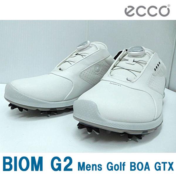 ecco エコー 男性用 メンズ ゴルフ シューズ BIOM G2 Mens Golf BOA GTX 130674 WHITE/BLACK (51227) SU071