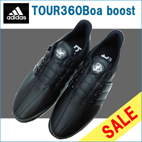 ゴルフ メンズシューズ 男性用 adidas アディダス TOUR360 Boa BOOST CoreBlack_CoreBlack_PowerRed F33257 SU079