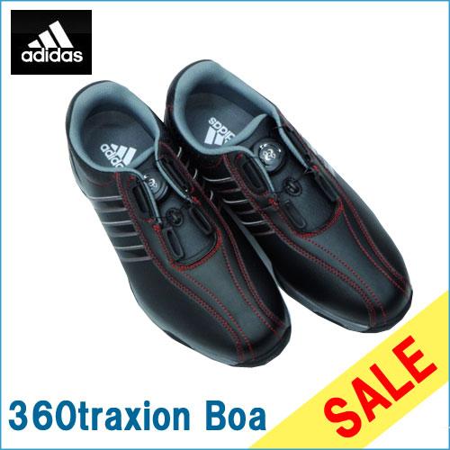 ゴルフ メンズシューズ 男性用 adidas アディダス 360 traxion Boa WIDE(EEE)Coreblack/CoreBlack/Ironmetallic F33214 SU080