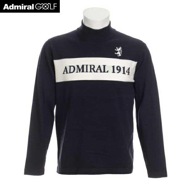 ギフト プレゼント ご褒美 男性用ゴルフウエア ADMIRAL アドミラル ゴルフ メンズウェア ロゴ L:AWM666 M:AWM665 ADMA065 ネイビー ハイネックニット 流行 30