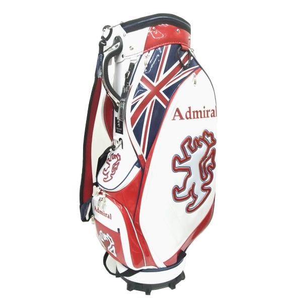 アドミラルゴルフ ADMIRAL GOLF/キャディバッグ/ADMG9SC2/ホワイト(00)/9型/3.1kg/46インチ対応/口枠5分割/CB267