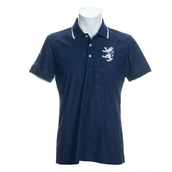ADMIRAL アドミラル メンズ 男性用 ゴルフウェア ランパントエンボス ポロシャツ ADMA018 ネイビー(30) L:SSM514 LL:SSM515