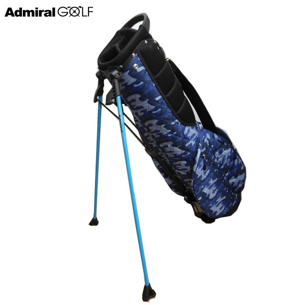【アドミラル/ADMIRAL】ゴルフ キルティングライト スタンドキャディバッグ 7型 ADMG6FC3 ブルー 34 迷彩柄、カモフラージュ柄、46インチ対応/CB130【TP】