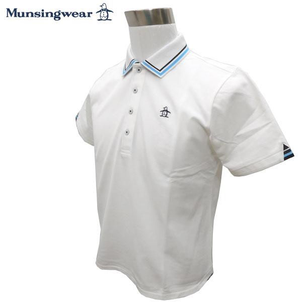 【マンシングウェア/Munsingwear】ゴルフウェア 春夏 メンズウエア マンシングウェア Munsingwear 半袖ポロシャツ JWMJ209 N950 L:SSM254 LL:SSM255 3L:SSM256【TP】