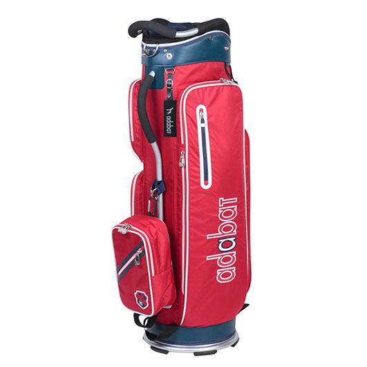 ゴルフ メンズ 男性用 軽量キャディバッグ adabat アダバット ABC307 9.0型 2.5kg レッド/CB242
