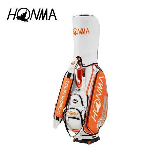ゴルフ メンズ キャディバッグ 本間ゴルフ HONMA ホンマゴルフ 2018年トーナメントプロモデルキャディバッグ CB-1801 オレンジ 9型