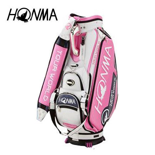ゴルフ メンズ キャディバッグ 本間ゴルフ HONMA ホンマゴルフ 2018年トーナメントプロモデルキャディバッグ CB-1801 ピンク 9型
