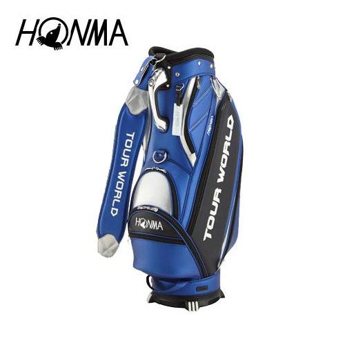 ゴルフ メンズ キャディバッグ 本間ゴルフ HONMA ホンマゴルフ TOUR WORLD キャディバッグ CB-1807 ブルー 青 9型