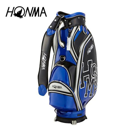 ゴルフ メンズ キャディバッグ 本間ゴルフ HONMA ホンマゴルフ Dancing HONMA キャディバッグ CB-1808 ブルー 青 9型